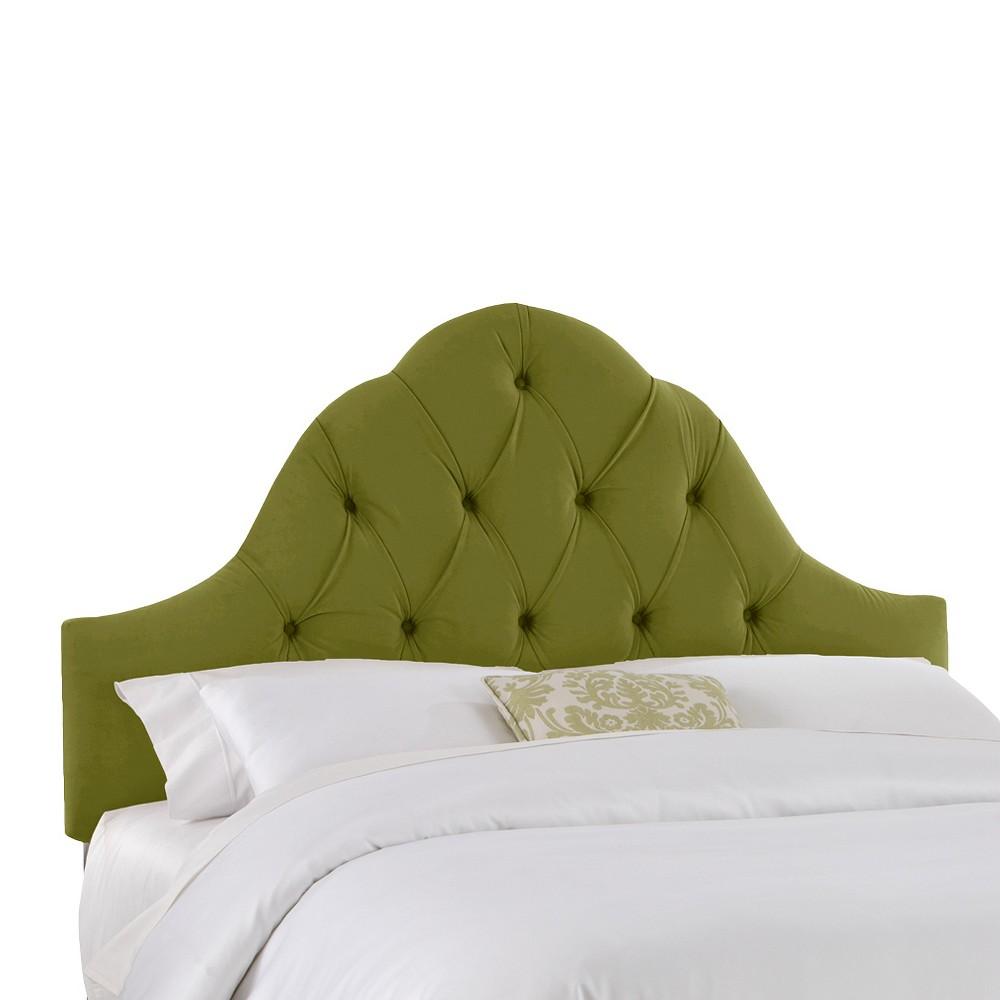 Toulouse Velvet Headboard - Apple Green - California King - Skyline Furniture