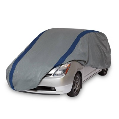 """Duck Covers 15""""x2"""" Weather Defender Hatchback Automotive Exterior Cover Gray/Blue"""