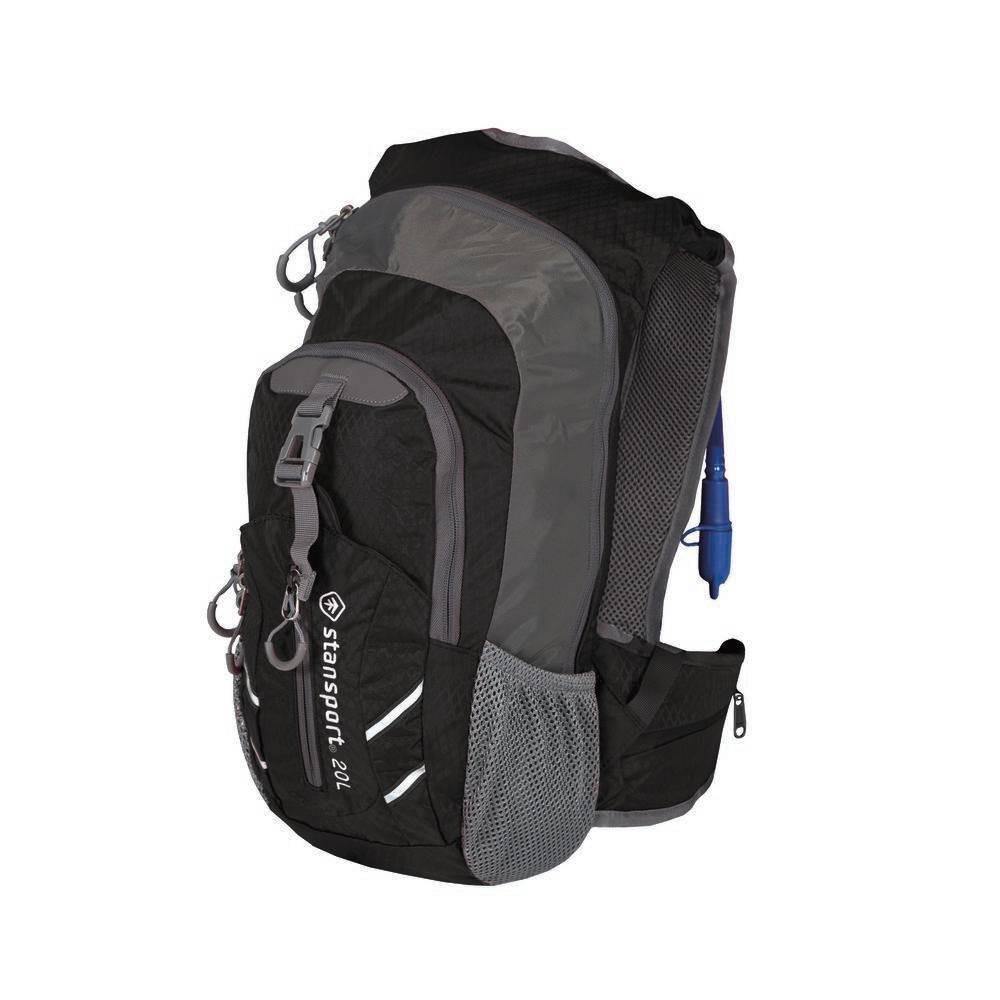 Stansport Daypack with Hydration Bladder - Black