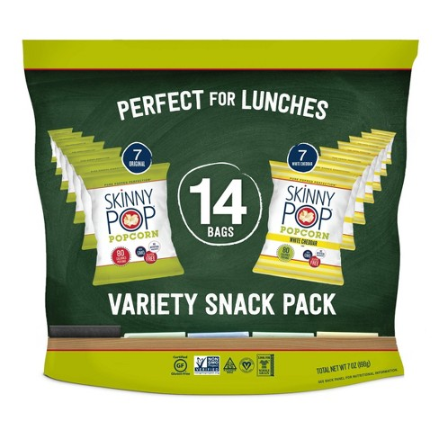 SkinnyPop Multipack with Cheddar and Original Popcorn - 14ct - image 1 of 4