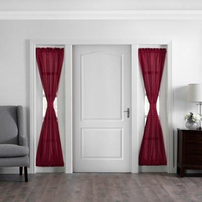 """Colette Faux Silk Sidelight Front Door Window Curtain Panel - 28"""" x 72"""" - Elrene Home Fashions"""