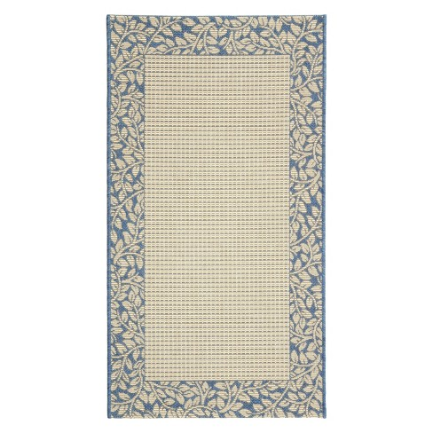 Courtyard Patio Rug - Natural / Blue - Safavieh® - image 1 of 1