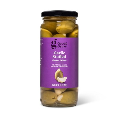 Garlic Stuffed Queen Olives - 7oz - Good & Gather™
