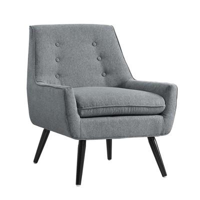 Trellis Upholstered Chair - Gray - Linon