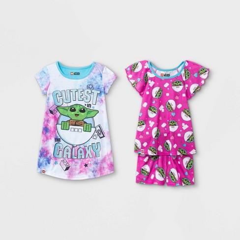 Toddler Girls' 3pc LEGO Star Wars Pajama Set - Pink - image 1 of 1