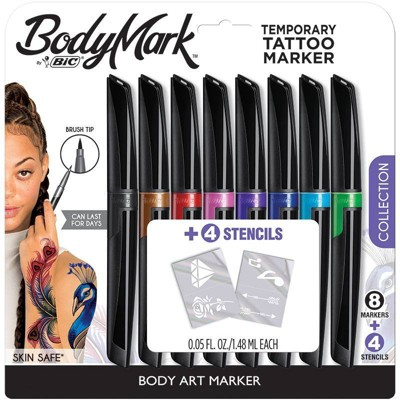BodyMark by BIC 8pk Collection Tattoo Marker