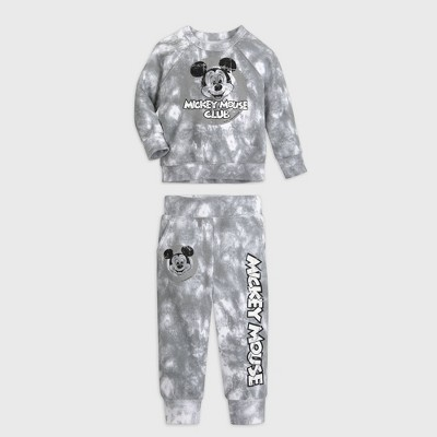 Baby Boys' Disney Mickey Mouse Top & Bottom Set - Gray 0-3M - Disney Store