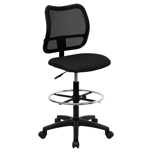 Mid-Back Mesh Drafting Chair Black - Flash Furniture - image 1 of 4