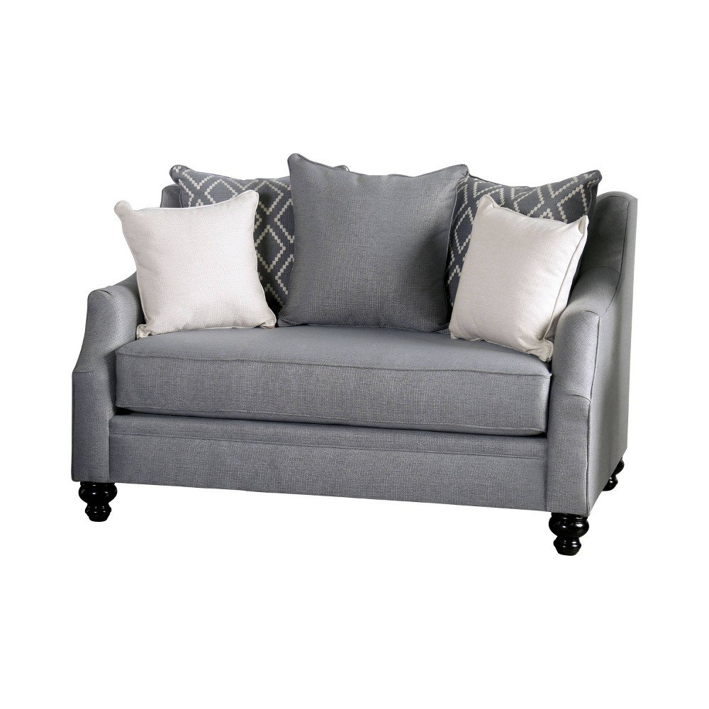 Image of Carisa Loveseat Gray - HOMES: Inside + Out