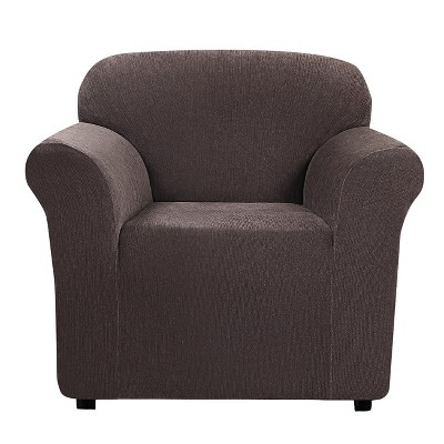 Ultimate Stretch Chenille Chair Slipcover Chocolate - Sure Fit