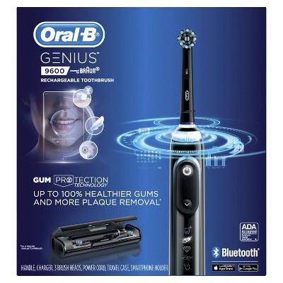 Oral-B 9600 Electric Toothbrush 3 Brush Heads, Powered by Braun - Black