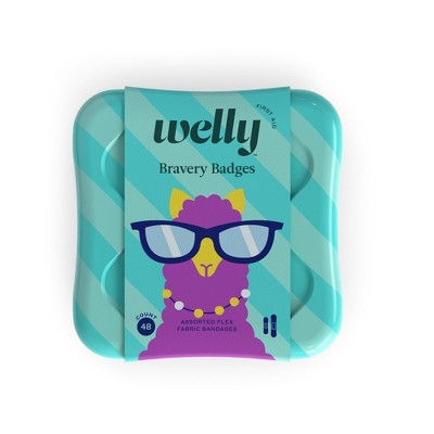 Welly Assorted Kids - Peculiar Pets Llama, Narwhal, Sloth - Adhesive Bandages - 48ct