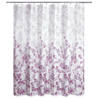 Ombre Vine Floral Shower Curtain - Allure Home Creation