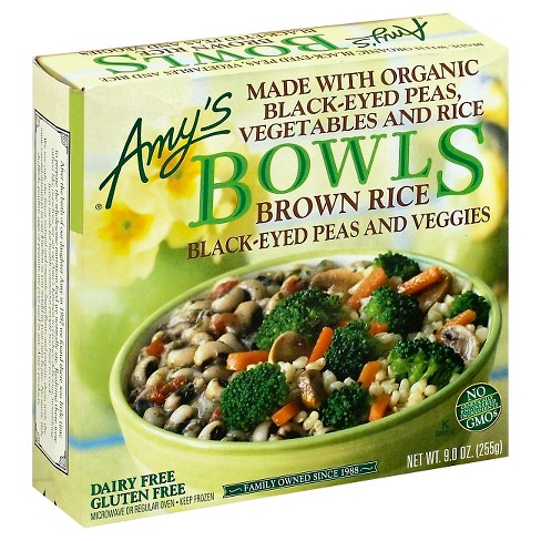 Amy's Brown Rice Black-Eyed Peas and Veggies Frozen Bowls - 9oz - image 1 of 1