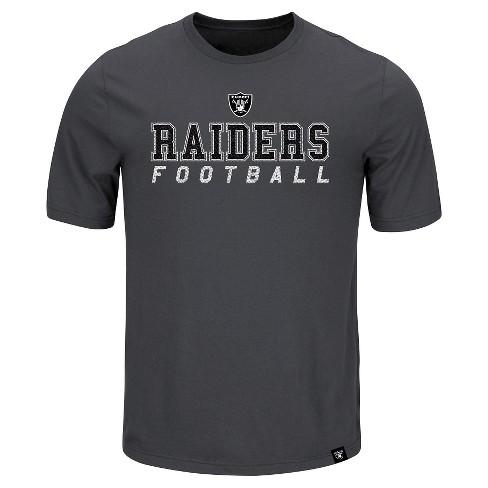 Oakland Raiders Men's Team Logo Bi-Blend Heathered T-Shirt L - image 1 of 1