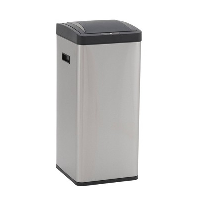 Household Essentials 30L Square Design Trend Sensor Trash Bin Stainless Steel