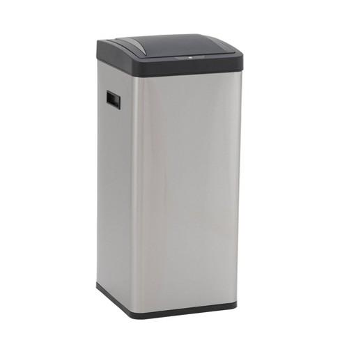 Household Essentials 30L Square Design Trend Sensor Trash Bin Stainless Steel - image 1 of 4