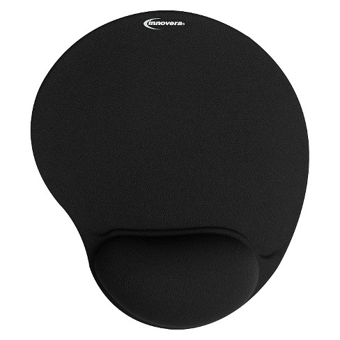 Innovera® Mouse Pad w/Gel Wrist Pad, Nonskid Base, 10-3/8 x 8-7/8, Black - image 1 of 1