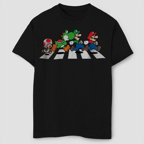 Boys' Super Mario Short Sleeve T-Shirt - Black - image 1 of 1