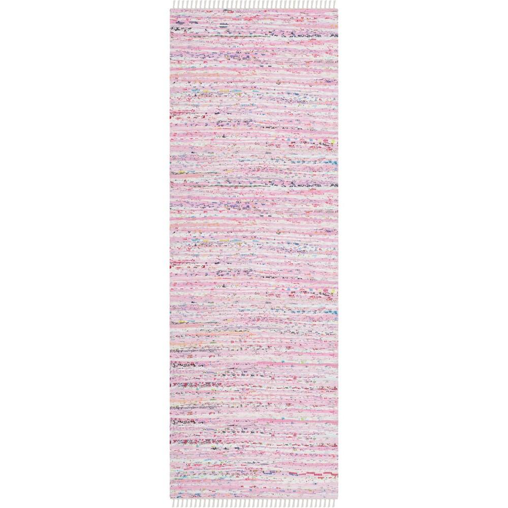 23X10 Spacedye Design Woven Runner Light Pink - Safavieh Coupons