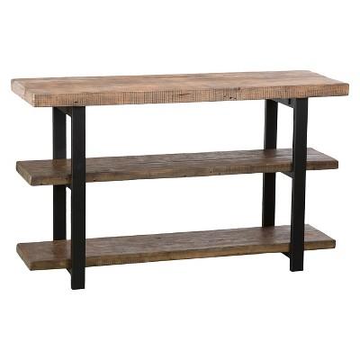 Pomona 2 Shelf Console Table Brown - Alaterre Furniture