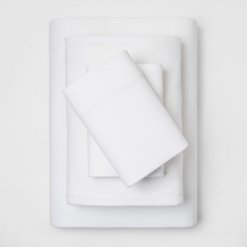 Solid Cozy Jersey Sheet Set - Threshold™ - image 1 of 1