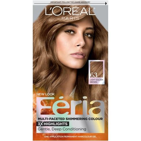 L Oreal Paris Feria Multi Faceted Shimmering Color 63 Light Golden Brown 1 Kit Target