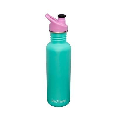 Klean Kanteen 27oz Classic Florida Keys Stainless Steel Water Bottle with Sports Cap - Matte Teal/Pink