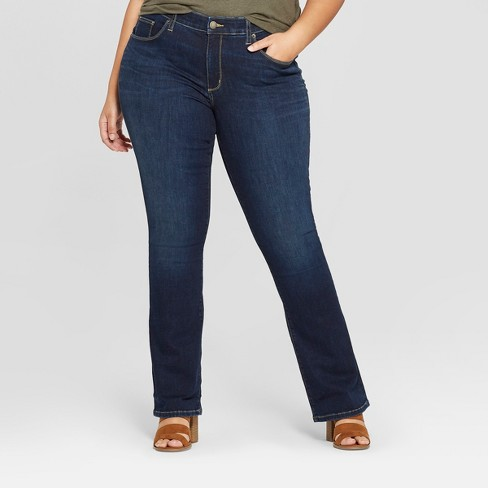 Women's Plus Size Skinny Bootcut Jeans - Universal Thread™ Dark Wash - image 1 of 3