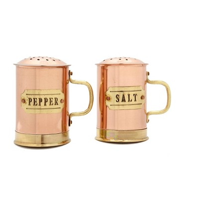 Old Dutch 2pc Stainless Steel Salt and Pepper Shaker Set Copper
