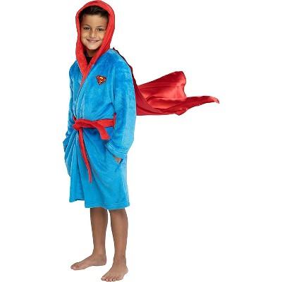 DC Comics Kids Superhero Plush Fleece Hooded Costume Robe