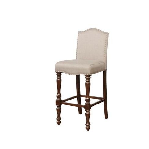 Willow Bar Stool Biege - Linon - image 1 of 2