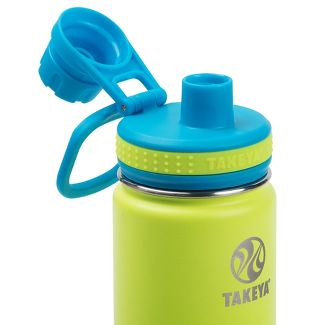 Takeya Actives 18 oz Insulated Stainless Steel Water Bottle - Lime Green/Blue
