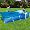 Bestway 58107 Flowclear Pro Rectangular Above Ground Swimming Pool Cover, Blue - image 3 of 4