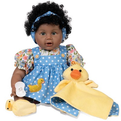 Paradise Galleries Realistic Toddler Girl Doll - Lucky Ducky, 20 inches in SoftTouch Vinyl, 6-piece Doll Gift Set