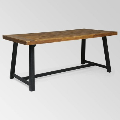 Raphael Rectangle Acacia Wood Dining Table - Christopher Knight Home