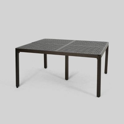 Tahoe Square Aluminum Modern Woven Accents Dining Table - Christopher Knight Home