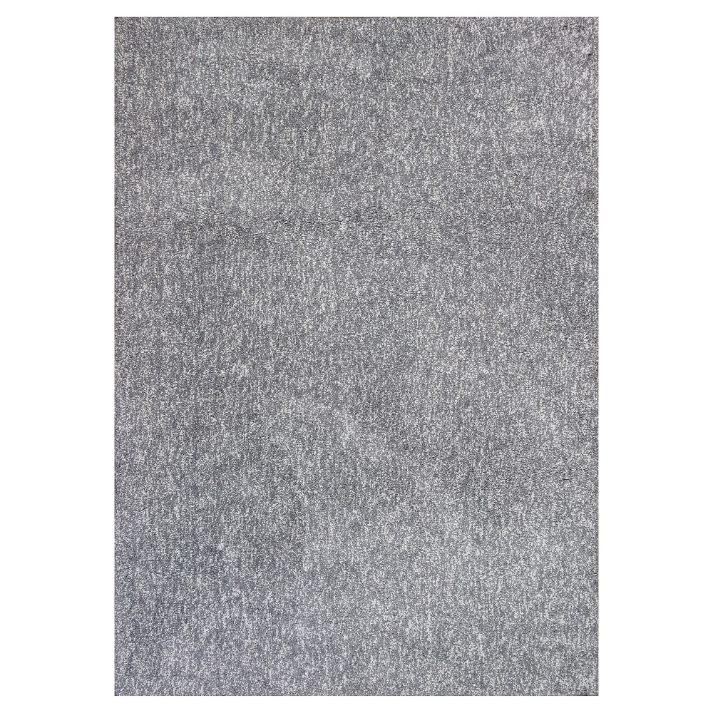 Gray Solid Woven Area Rug 3'3