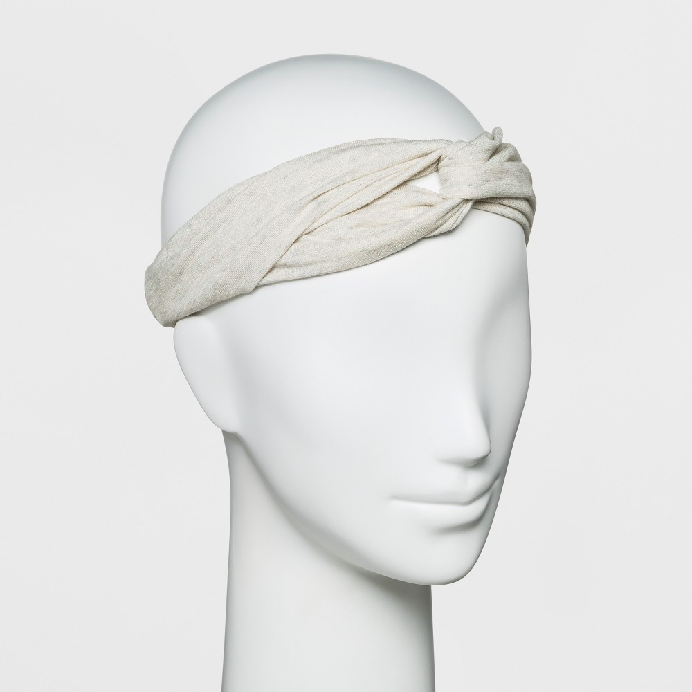 Women's Twist Front Headband - A New Day Oatmeal