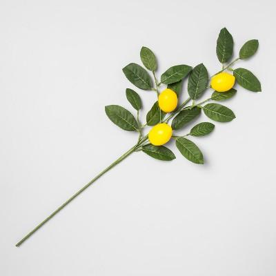 28  Artificial Lemon Stem Yellow/Green - Opalhouse™