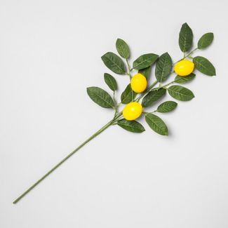 "28"" Artificial Lemon Stem Yellow/Green - Opalhouse™"