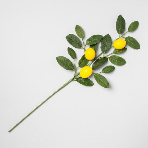 "28"" Artificial Lemon Stem Yellow/Green - Opalhouse™ - image 1 of 1"