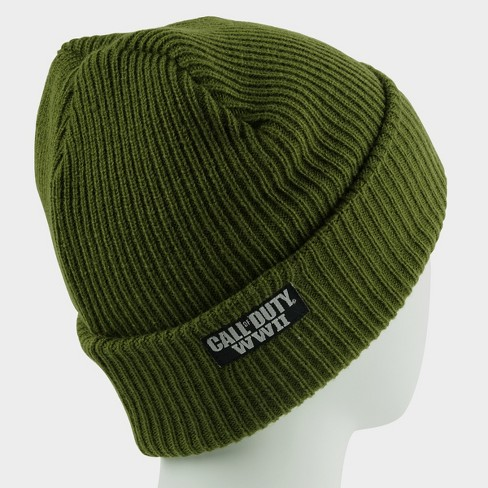 Call Of Duty WWII Knit Hat - Military Star Green   Target b544a9a5e76