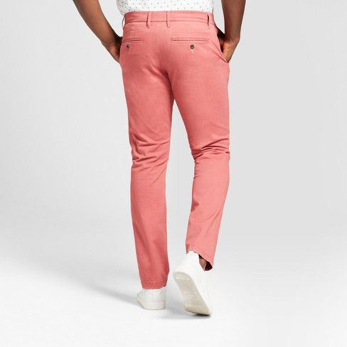 47d5f82611e9 Men's Athletic Fit Hennepin Chino Pants - Goodfellow & Co™ Dusty Red ...
