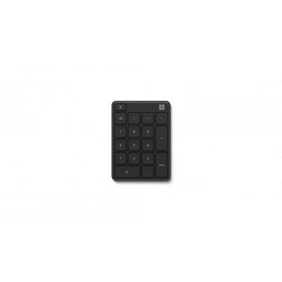 Microsoft Number Pad Matte Black - Bluetooth 5.0 Connectivity - 2.4 GHz Frequency Range - Connect up to 3 devices - 1.3mm low profile key travel
