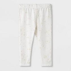 Baby Girls' Bow Back Leggings - Cat & Jack™ White