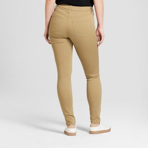 dfab606e016 Women s Mid-Rise Curvy Skinny Jeans - Universal Thread™ Tan   Target