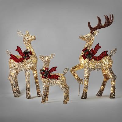 3pk/42in Deer Family Christmas UL Novelty Sculpture - Wondershop™