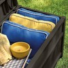 Suncast 50 Gallon Stay Dry Resin Outdoor Deck Storage Box w/ Seat, Java (2 Pack) - image 4 of 4