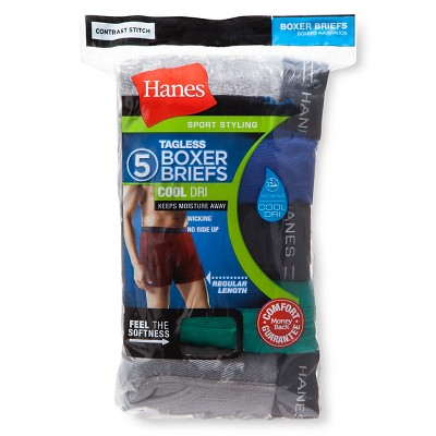Hanes Men's 5pk Dri Boxer Briefs - Colors May Vary XXL